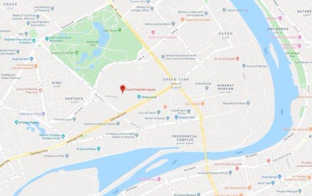 Dos proyectiles impactan en la Zona Verde de Bagdad, donde se encuentra la embajada de EEUU