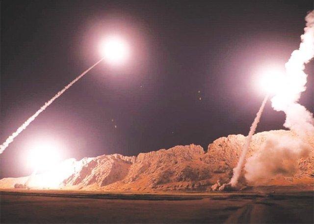 Así fue el ataque de misiles de Irán a la base militar de EEUU en Irak