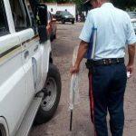 Funcionarios del PoliTáchira trasladaron, para experticias, la escopeta utilizada para disparar contra el adolescente. (Foto Armando Hernández)