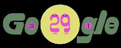 Google dedica un Doodle al 29 de febrero, 2020 año bisiesto