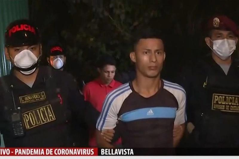 Detienen a 3 venezolanos que robaban a transeúntes antes del toque de queda en Perú