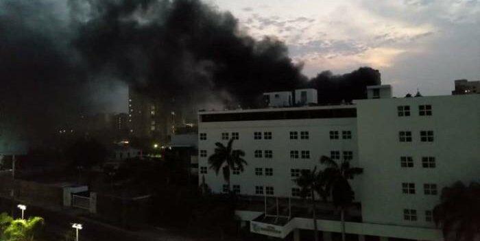 Incendio en Hotel Kristoff de Maracaibo, bomberos no tenían como apagar el fuego