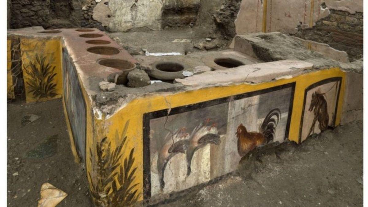 """El extraordinario hallazgo de un puesto de """"comida rápida"""" en Pompeya"""